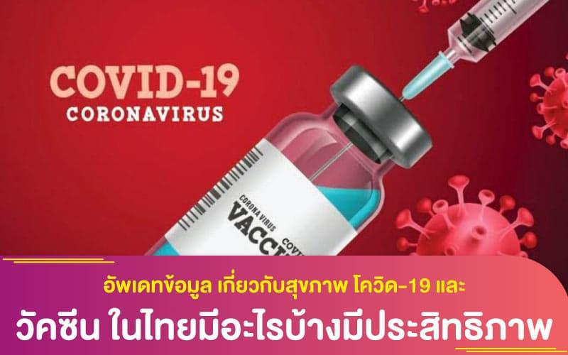 อัพเดทข้อมูล เกี่ยวกับสุขภาพ โควิด-19 และวัคซีน ในไทยมีอะไรบ้างมีประสิทธิภาพดีแค่ไหน